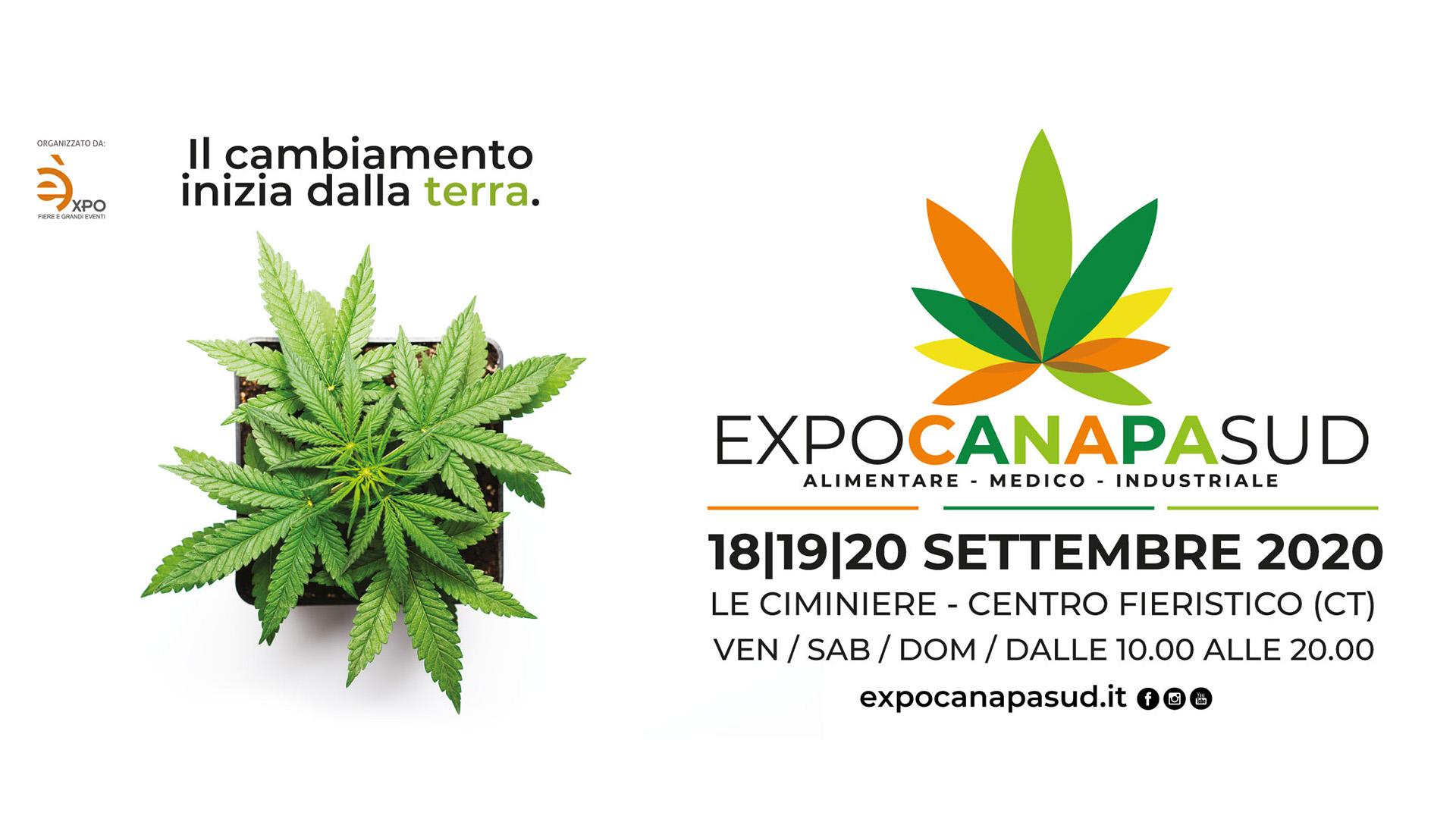 Expo Canapa Sud 18 - 19- 20 settembre 2020